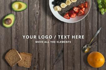 Food mockup - move elements