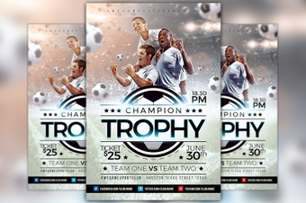 Champion Trophy Soccer Flyer Template