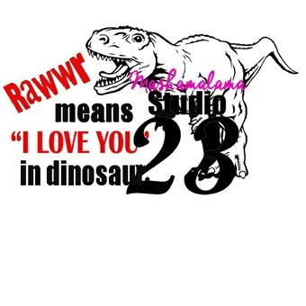 I Love You in Dinosaur!