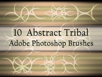 20 Abstract Tribal Photoshop Brushes