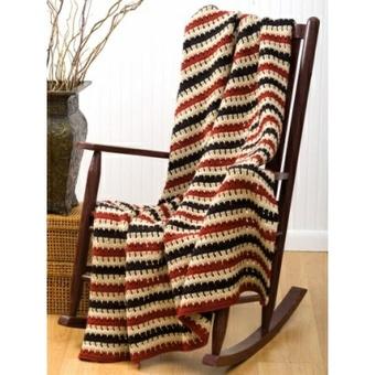 Cozy Striped Afghan