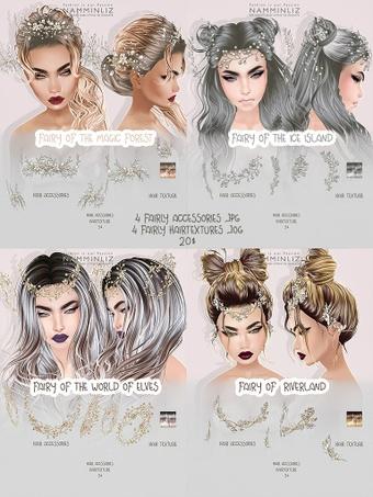 Full Fairy 4 accessories and 4 hair texture imvu accessories & Hair texture JPG