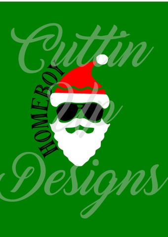 Homeboy Santa SVG Christmas Cutting File for Cricut or Cameo Super Cute
