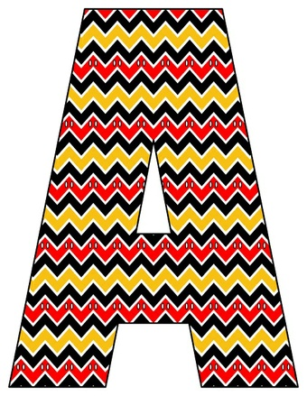 8X10.5  Inch Chevron Mouse Pants Printable Letters A-Z, 0-9