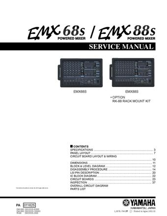 Yamaha EMX68S EMX88S Service Manual