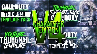 Modern Warfare Remastered - Character Edition - Thumbnail Template Pack V4 - Photoshop Template