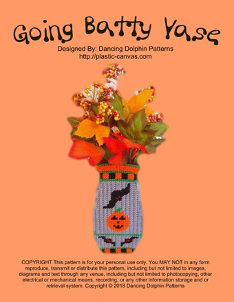 388 - Going Batty Vase