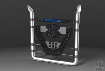 3D BackPipes V8 Scania