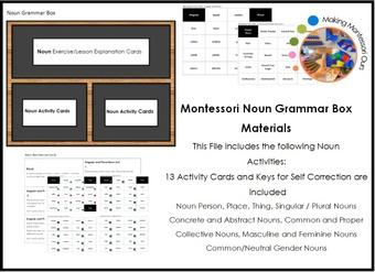 Montessori Grammar Box Materials - Noun