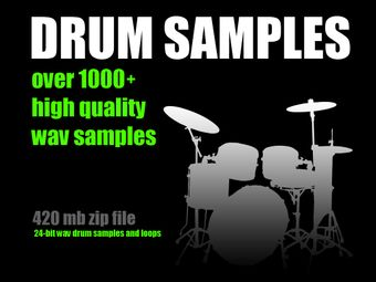DRUM SAMPLES Collection High Quality 24-bit WAV Samples