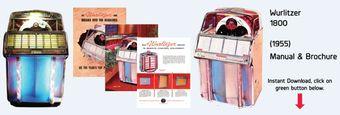 Wurlitzer Model 1800 (1955)  Manual & Full color Brochure