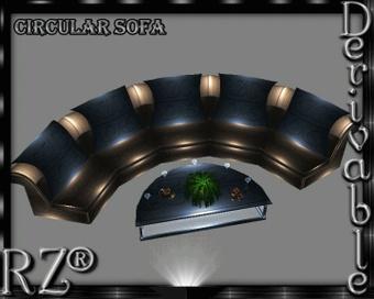 86. Circular Sofa Mesh Furniture