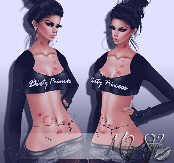 ~ Dirty Princess top PSD pack ~