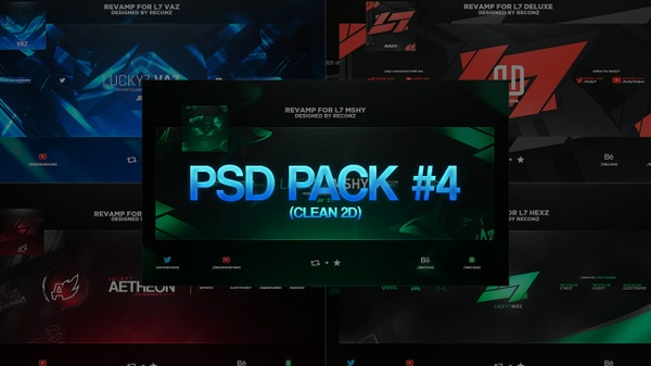 PSD Pack #4 (Clean 2D)