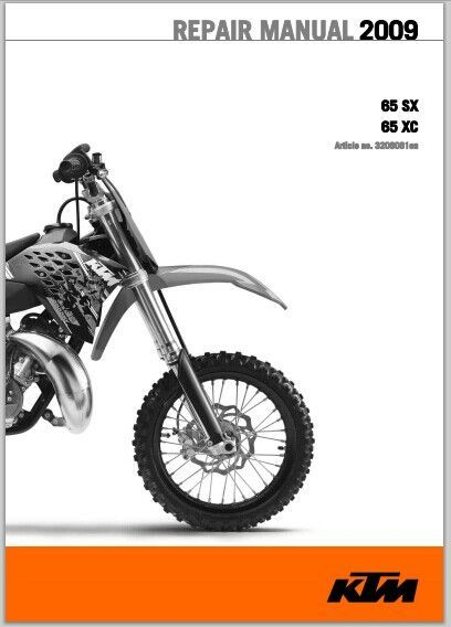 2009 KTM 85 SX, 85 XC Workshop Service Repair Manual pdf Download