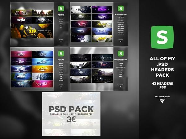 43 Headers .PSD Pack !