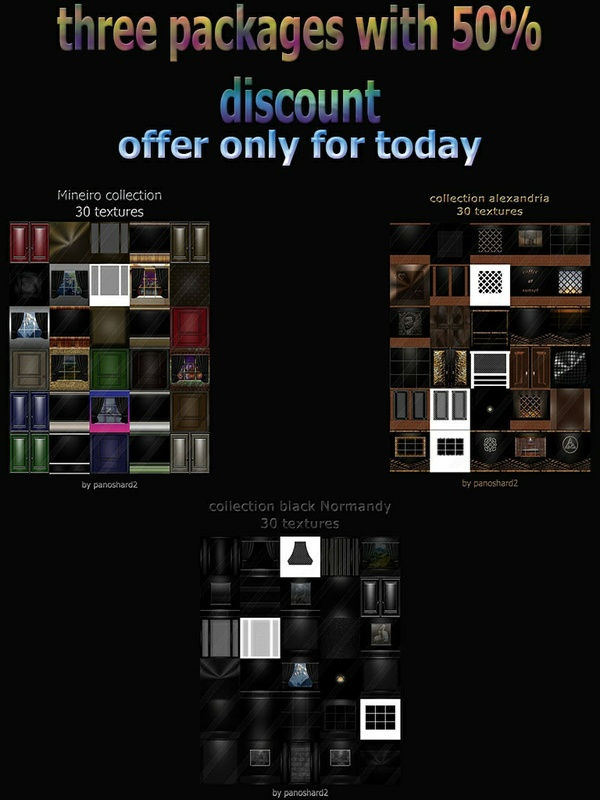 Three package textures room and fabric 50% off today +  gift pack skies n2