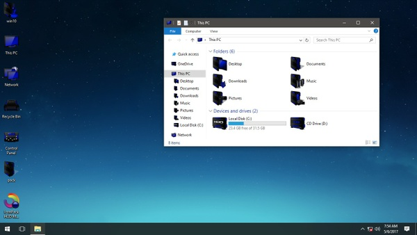 HUD Machine Dark Blue IconPack