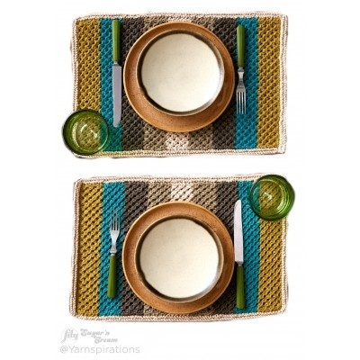 Retro Striped Placemats
