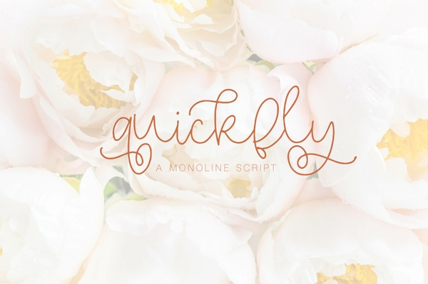 Quickfly - A Monoline Script
