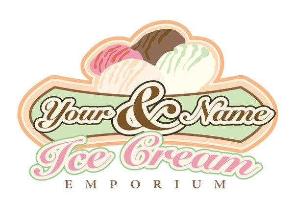 Ice-cream shop logo 2