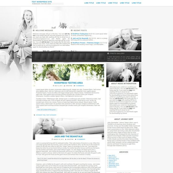 Soft Classic Wordpress Theme