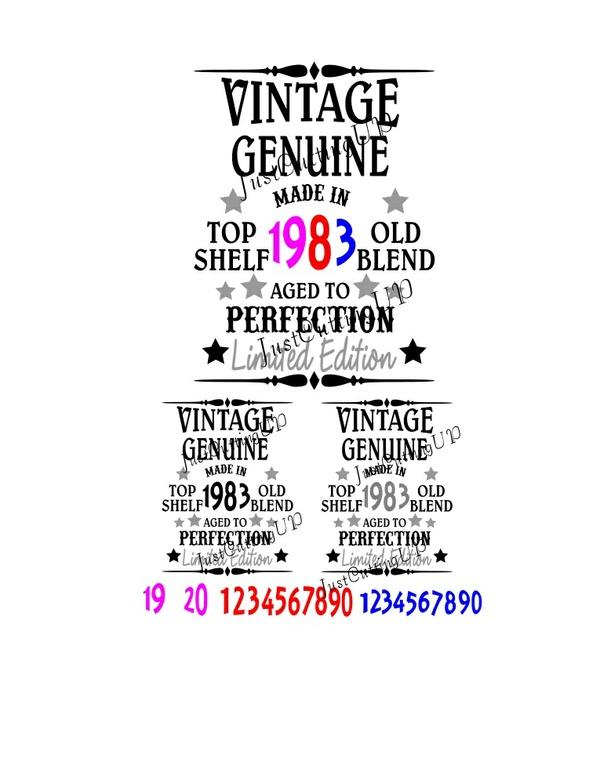 Vintage Birthday SVG, SVG Only