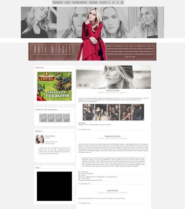 Premade Wordpress Kate Winslet