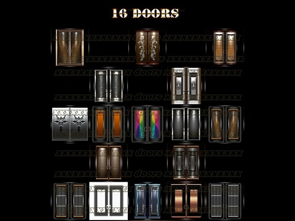 16 doors textures IMVU ROOM