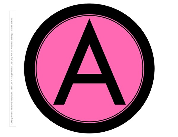 8-INCH-BLACK-PINK-CIRCLE-PRINTABLE-BANNER-LETTERS-A-Z-0-9