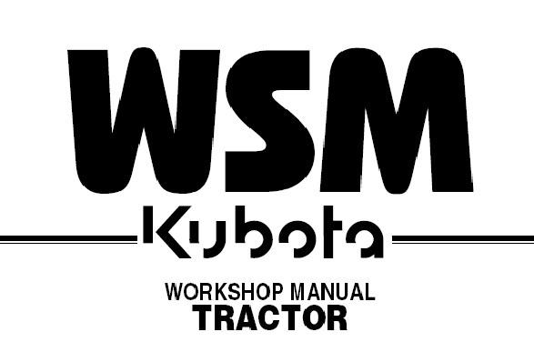 KUBOTA B5100 B6100 B7100 Tractor Service Repair Workshop Manual