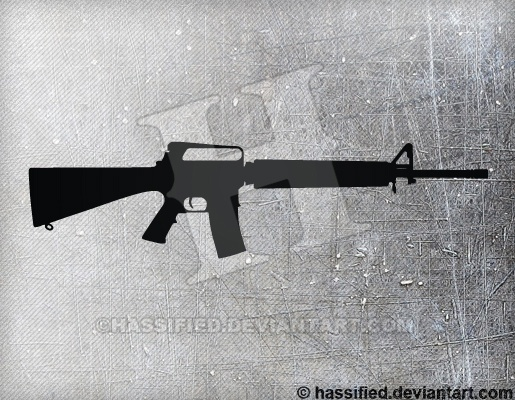 M16 A2 - printable, vector, svg, art