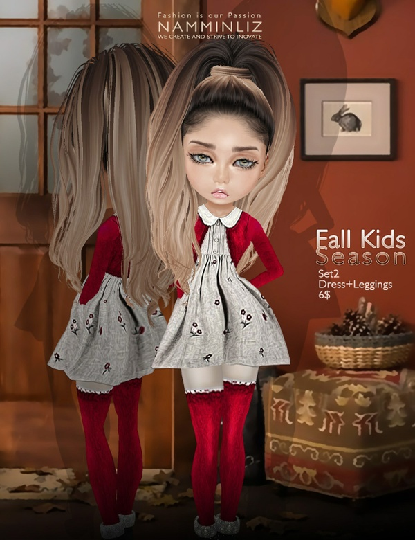 Fall Kids Season SET2 imvu texture JPG ( Bibirasta dress )