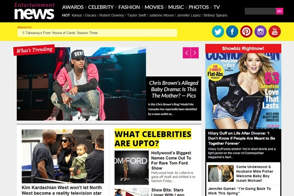Entertainment News WordPress Theme