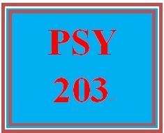 PSY 203 Week 2 Week Two Assignment Worksheet