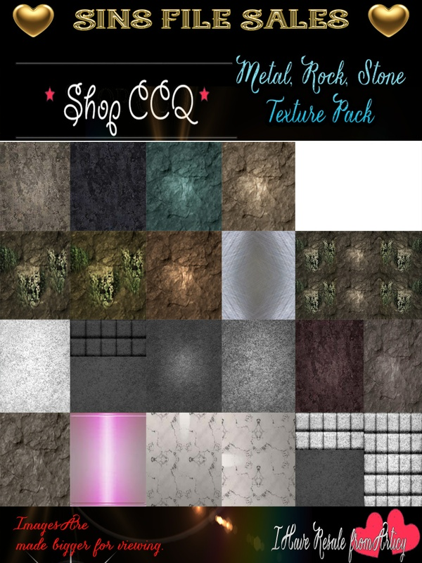 Metal,Rock,Stone Texture Pack