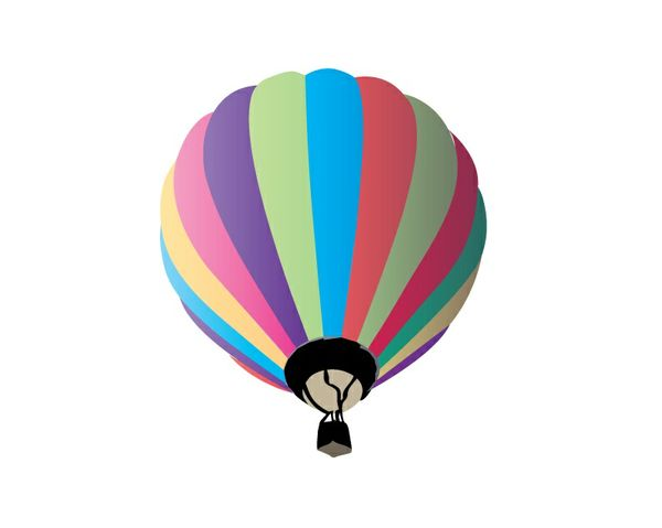 Hot air balloon editable vector illustration
