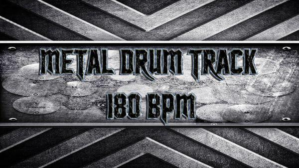 Metal Drum Track 180 BPM