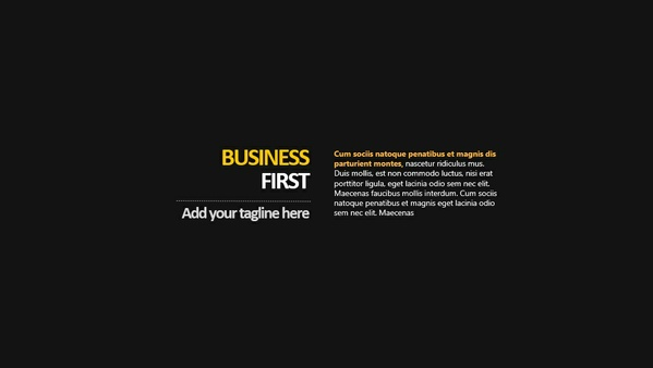 Business First PowerPoint Presentation Template