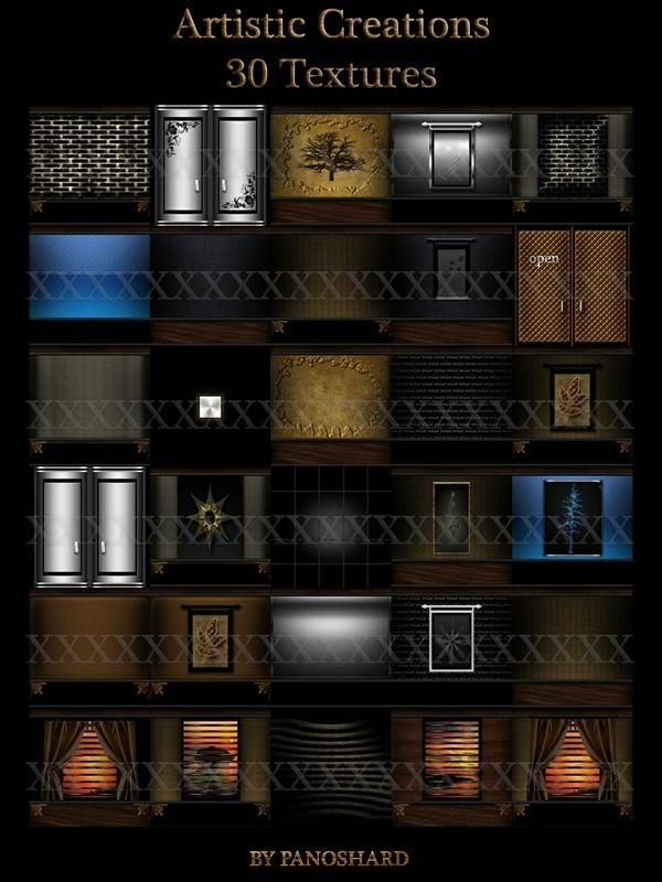 Artistic Creations 30 textures imvu room
