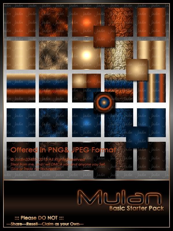 Mulan Basic Texture Pack-- $1.50