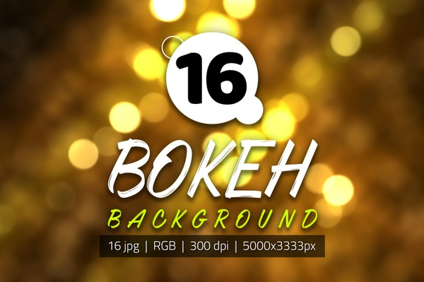16 Abstrac Bokeh Background