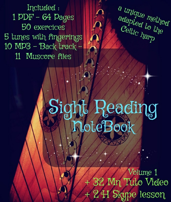 4-SIGHT READING FOR LEVER HARP - VOL1  -VIDEO + 2 H SKYPE LESSON PACK