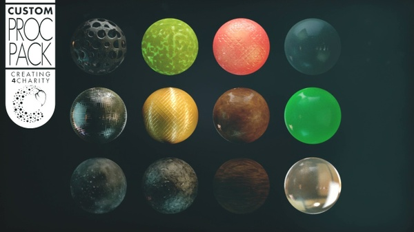 Cinema 4D Procedural Texture Pack Vol.1