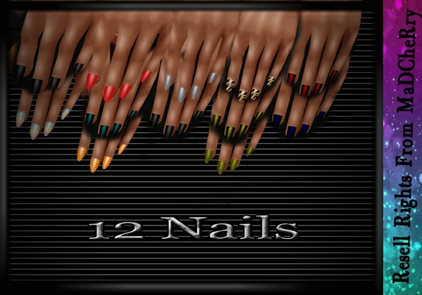 12 Nail Textures Catty Only!!!