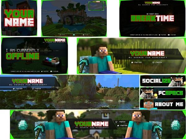 Minecraft Social Media Pack