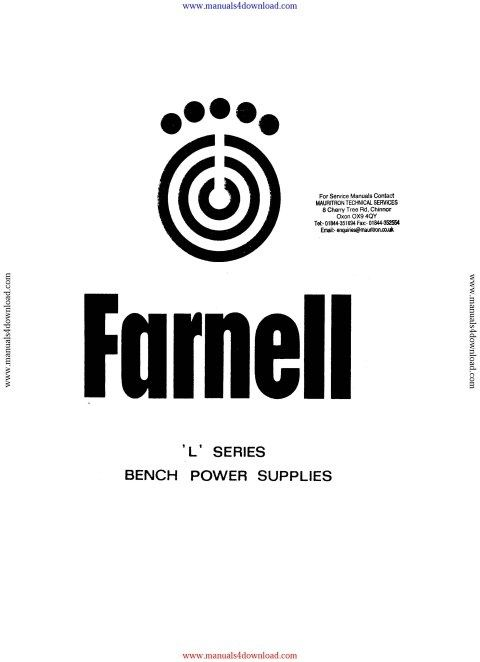 Farnell LB30T Instruction Manual