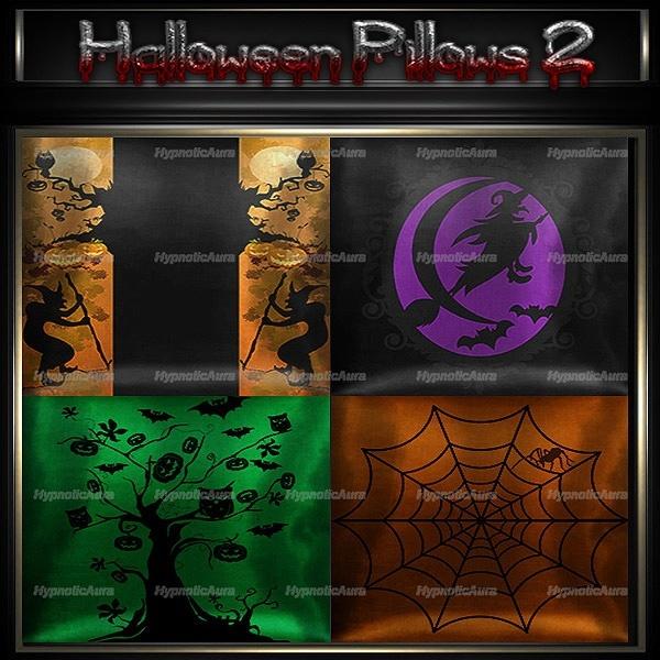 A~HALLOWEEN PILLOWS 2-30 TEXTURES