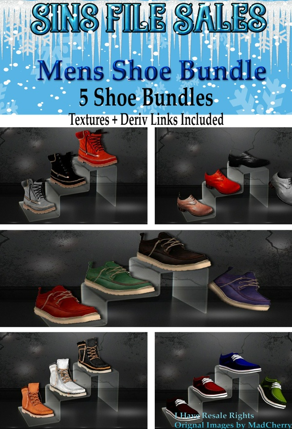 Mens Shoe Bundle *5 bundles Included