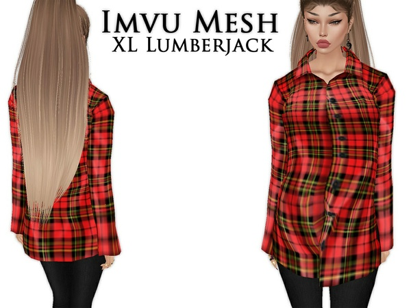 IMVU Mesh - Tops - XL Lumberjack
